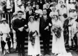 Picture relating to Maryborough - titled 'Double wedding of Simpson sisters in Maryborough, Queensland, 1934'