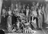 Picture relating to Queensland - titled 'Children dressed in stars and stripes fancy dress, ca. 1914'