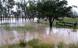 Picture relating to Ooma Creek - titled 'Ooma Creek in flood'