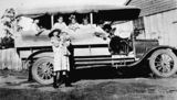 Picture relating to Queensland - titled 'Family outing in an open sided truck at Mt Crosby, ca. 1930'