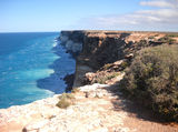 Picture relating to Nullarbor Plain - titled 'Bunda cliffs on Nullarbor Plain.'