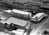 Picture relating to Murgon - titled 'Aerial view of new Public Hall, Library and commercial buildings, Murgon, 1938'