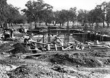 Picture relating to Acton - titled 'Australian Institute of Anatomy foundations being concreted. McCoy Circle Acton.'