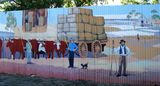 Picture relating to Augathella - titled 'Augathella -Wool Industry Mural'