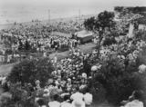 Picture of / about 'Suttons Beach' Queensland - Spectators watching the Sun Girl Quest beauty contest at Suttons Beach, 1953