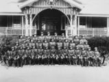 Picture relating to Gatton - titled 'Cadet Corps pictured outside the Gatton College building, ca. 1937'