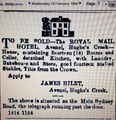 Picture relating to Avenel - titled 'Avenel-Royal Mail Hotel For Sale'
