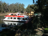 Picture relating to Echuca - titled 'Houseboats for Hire at Echuca'