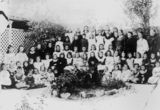Picture relating to Stanthorpe - titled 'Children outside St. Joseph's Convent School Stanthorpe, ca. 1898'