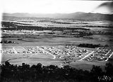 Picture relating to Yarralumla - titled 'View from Mount Ainslie over Reid and Hotel Canberra to Yarralumla'