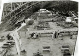 Picture relating to Eagle Farm - titled 'Interior view of GMH Allison Overhaul Assembly Plant igloo, located on Sandgate Road, Albion, Brisbane during World War Two'