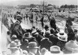 Picture relating to Stanthorpe - titled 'Crowds at the official opening of the Carnarvon Bridge at Stanthorpe, 1922'