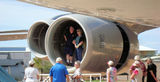 Picture relating to Longreach - titled 'Jet engine inspectors Longreach'