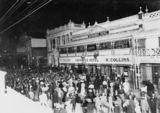 Picture relating to Mosman Street - titled 'Night of the referendum on Federation of Australia, Charters Towers, 1900'