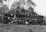 Picture relating to Cordalba - titled 'Portrait of canecutters at Cordalba, Queensland, during the sugar workers strike of 1911'