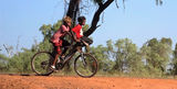 Boys on bicycle Kununurra