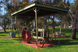 Picture relating to Dalwallinu - titled 'Park tractor display, Dalwallinu WA'