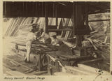Picture relating to Maleny - titled 'Men working on the circular saw at the Maleny Sawmill, 1894'
