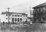 Picture relating to Franklin - titled 'St Christopher's Convent, Franklin Street, Manuka - under construction.'