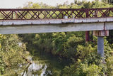 Picture relating to Adelaide River - titled 'Adelaide River Rail Bridge'
