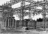 Picture relating to Kingston - titled 'Electrical switchyard and transformers at the Kingston Power Station'