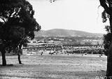 Picture relating to Canberra - titled 'Hotel Canberra and Albert Hall from behind West Block'