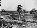 Picture relating to Stanthorpe - titled 'Laying of the railway line at Stanthorpe, ca. 1880'
