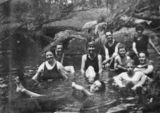 Picture relating to Cooyar Creek - titled 'Bathing at Cooyar Creek, ca. 1925'