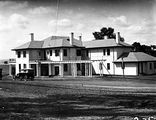 Picture relating to Adelaide Avenue - titled 'Prime Minister's Lodge with Pergola, Adelaide Avenue, Deakin, from the west.'
