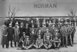 Picture relating to Charleville - titled 'Large group of horse buyers pictured outside the Hotel Norman, Charleville, ca. 1909'