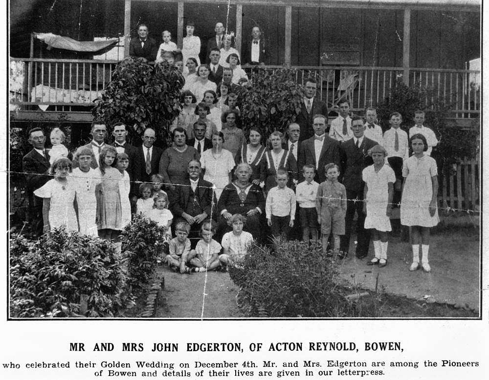 Picture of / about 'Bowen' Queensland - Mr and Mrs John Edgerton's golden wedding anniversary, Bowen