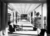 Picture relating to Adelaide Avenue - titled 'Pergola on west side of Prime Minister's Lodge, Adelaide Avenue, Deakin.'
