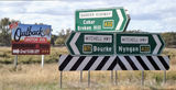 Picture relating to Nyngan - titled 'Distance signs Nyngan'