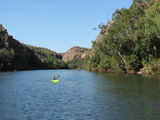 Picture relating to Katherine Gorge - titled 'Kayaking on Katherine Gorge'