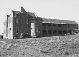 Picture relating to Red Hill - titled 'Church of England Boys Grammar School, Flinders Way, Red Hill, under construction.'
