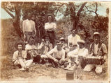 Picture relating to Thursday Island - titled 'Picnic party on Prince of Wales Island in Thursday Island group'