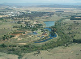 Picture of / about 'Molonglo River' the Australian Capital Territory and New South Wales - Aerial view of the Queanbeyan Sewerage Treatment Plant on Molonglo River
