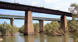 Picture relating to Fergusson River - titled 'Fergusson River Railway Bridge + Stuart Highway Bridge'
