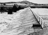 Picture relating to Molonglo River - titled 'Footbridge over the weir on the Molonglo River behind the Kingston Power Station which led to Duntroon'