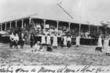 Picture relating to Gold Coast - titled 'Students and teachers posing in the grounds of Goy-te-lea, Miss Davenport's school for girls on the Gold Coast, ca. 1906'