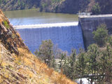 Picture of / about 'Cotter Dam' the Australian Capital Territory - Cotter Dam wall close up