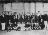 Picture relating to Bowen - titled 'Post Office and Telegraph staff in Bowen, 1914'