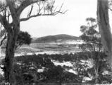 Picture relating to Ainslie - titled 'Record fall of snow - Braddon under snow, from Mt Ainslie. . Ainslie Hotel in the centre.'