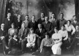 Picture relating to Toowoomba - titled 'Cast members of the first production of Steele Rudd's 'Duncan McClure', Toowoomba, 1915'