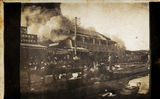 Picture relating to Blackall - titled 'Barcoo Hotel Fire, Blackall, 1923'