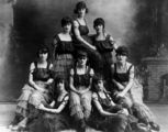 Picture relating to Queensland - titled 'Group of young women in matching costumes, 1920-1930'