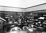 Picture relating to Banks - titled 'The Library, Australian Forestry School, Banks Street Yarralumla.'