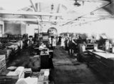 Picture relating to Brisbane - titled 'Linotype department, Government Printing Office, Brisbane, 1921'