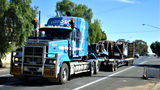 Picture relating to Wilcannia - titled 'Wilcannia - Truck passing through'