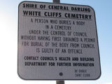 Picture relating to White Cliffs - titled 'White Cliffs Cemetary'